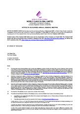 Notice of Adjourned AGM 2019