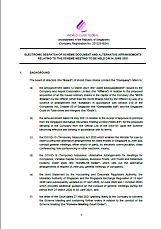 Notice to Shareholders - AGM & EGM 2020